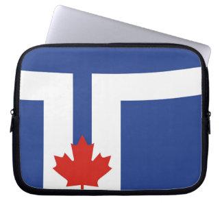 país de Canadá de la bandera de la ciudad de Toron Funda Para Portátil