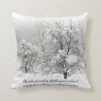 País de las maravillas del invierno cojín decorativo