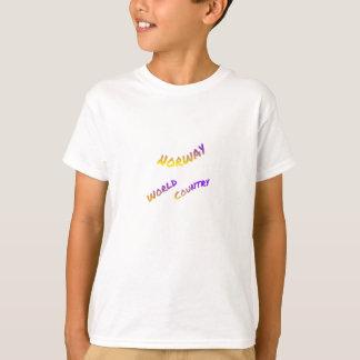 País del mundo de Noruega, arte colorido del texto Camiseta