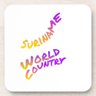 País del mundo de Suriname, arte colorido del Posavasos