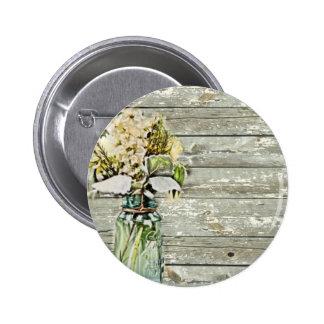 País francés de madera del granero del wildflower chapa redonda de 5 cm