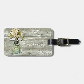 País francés de madera del granero del wildflower etiquetas para maletas