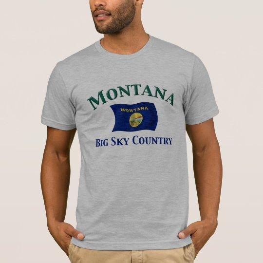País grande del cielo de Montana Camiseta