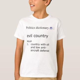 País malvado camiseta