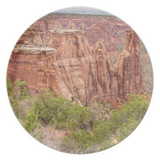 País rojo de la roca de Colorado Plato
