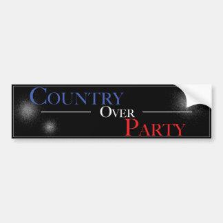 País sobre el fiesta - pegatina para el