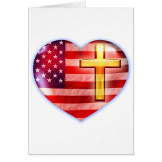 Paisaje #1 del corazón tarjeta de felicitación