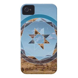 Paisaje abstracto con formas geométricas carcasa para iPhone 4