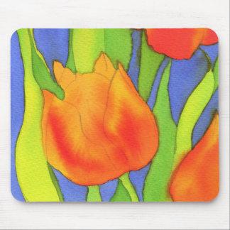 Paisaje anaranjado Mousemat del tulipán Alfombrilla De Raton