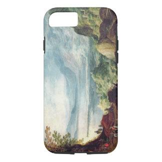 Paisaje con el mar y las montañas (aceite en lona) funda iPhone 7