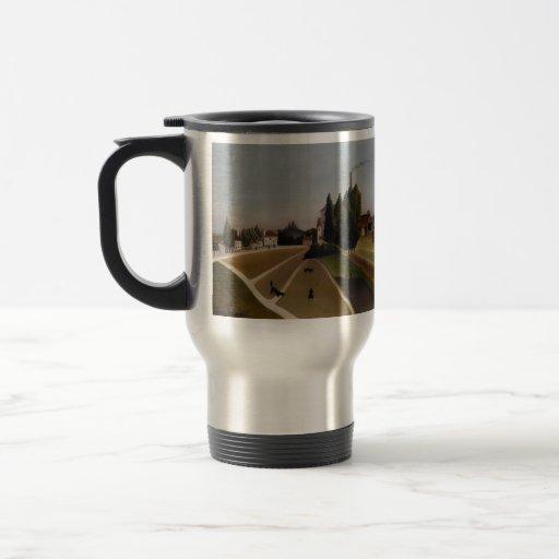 Paisaje de Enrique Rousseau- con la fábrica Taza De Café