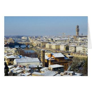 Paisaje de Florencia de Piazzale 2 Felicitacion