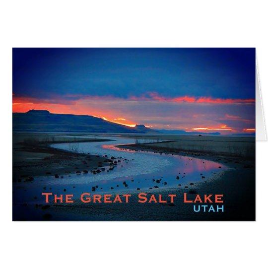 Paisaje de Great Salt Lake, Utah Tarjeta De Felicitación