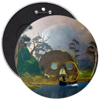 Paisaje de la fantasía con la lámpara chapa redonda 15 cm