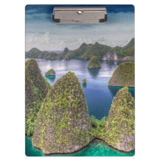 Paisaje de la isla de Wayag, Indonesia