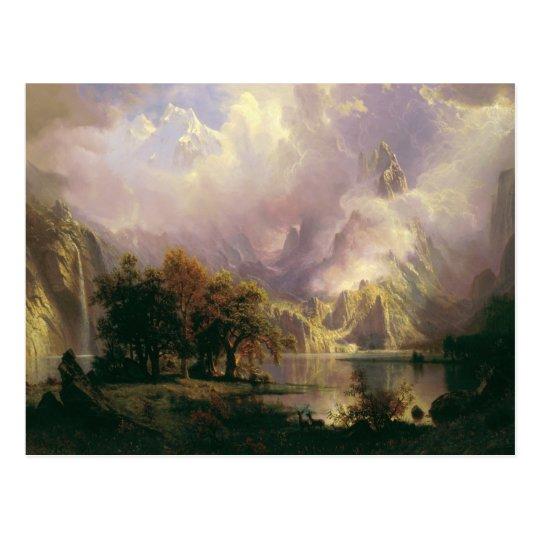 Paisaje de la montaña rocosa de Albert Bierstadt, Postal
