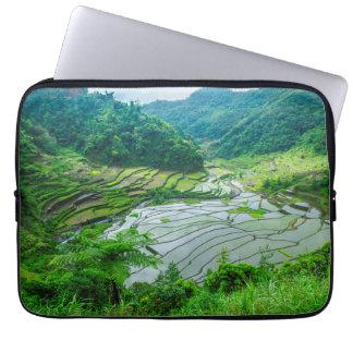 Paisaje de la terraza del arroz, Filipinas Funda Para Portátil