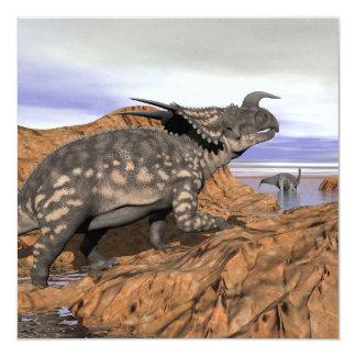 Paisaje de los dinosaurios - 3D rinden Invitación 13,3 Cm X 13,3cm