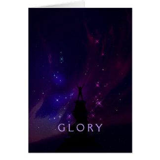Paisaje de motivación de la violeta de la gloria tarjeta de felicitación