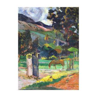 Paisaje de Paul Gauguin Tahitian Impresión En Lienzo