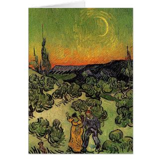 """Paisaje de Van Gogh el """"con la tarjeta que camina"""