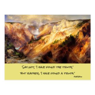 paisaje de yellowstone postal