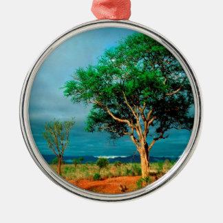 Paisaje del africano del árbol adorno para reyes
