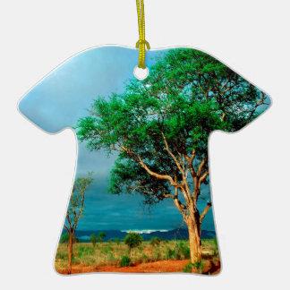 Paisaje del africano del árbol ornamentos de reyes