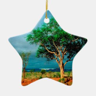 Paisaje del africano del árbol ornamentos para reyes magos