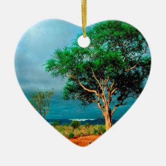 Paisaje del africano del árbol adorno de reyes