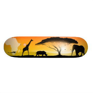 Paisaje del africano del ejemplo tabla de skate