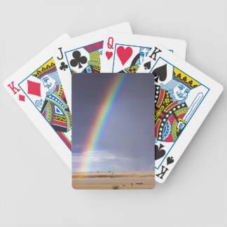 Paisaje del arco iris baraja de cartas bicycle