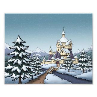 paisaje del día de fiesta del navidad del castillo fotos