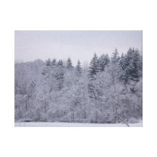 Paisaje del invierno impresión en lienzo