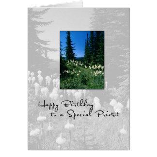 Paisaje del sacerdote de 3656 cumpleaños tarjeta de felicitación