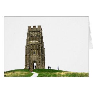 Paisaje del Tor de Glastonbury (espacio en blanco Tarjeta De Felicitación