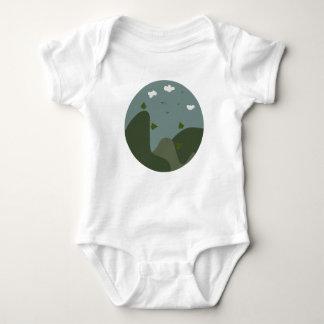 Paisaje del verano personalizado body para bebé