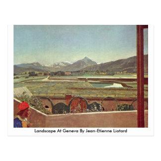 Paisaje en Ginebra de Jean-Etienne Liotard Postal