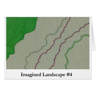 Paisaje imaginado #4 tarjeta de felicitación