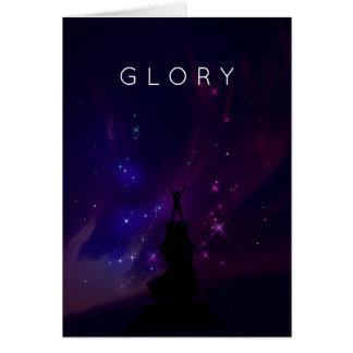 Paisaje inspirado de motivación de la violeta del tarjeta de felicitación