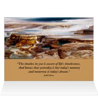 paisaje inspirado de yellowstone tarjeta de felicitación