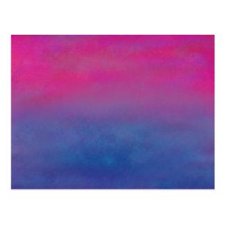 Paisaje magenta del extracto del cielo postal