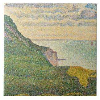 Paisaje marino en Puerto-en-Bessin, Normandía, 188 Azulejo Cuadrado Grande