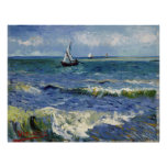 Paisaje marino en Saintes Maries - Vincent van Gog Impresiones