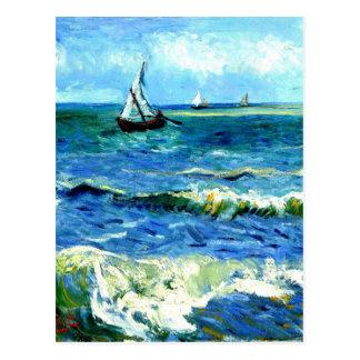 Paisaje marino en Saintes-Maries, Vincent van Gogh Postal