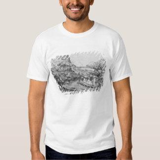 Paisaje montañoso camisas