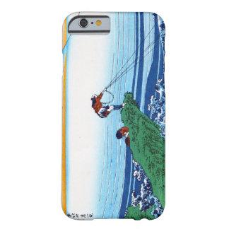 Paisaje oriental fresco de la opinión de Hokusai Funda Para iPhone 6 Barely There