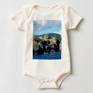 Paisaje rocoso del Caribe de St Thomas de la Body Para Bebé