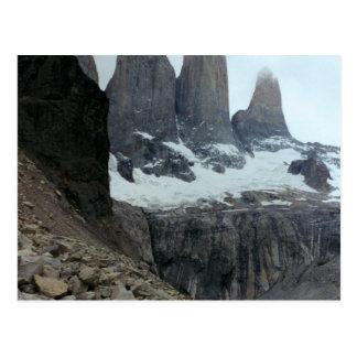 Paisaje rugoso de Chile Postal