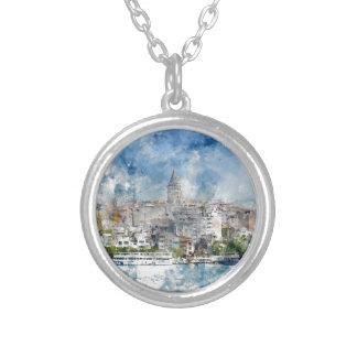 Paisaje urbano con la torre de Galata sobre el Collar Plateado